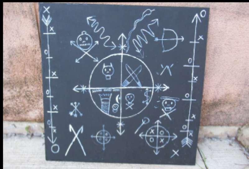 Lugar donde se practicaron los ritos satánicos. FOTO GUARDIA CIVIL
