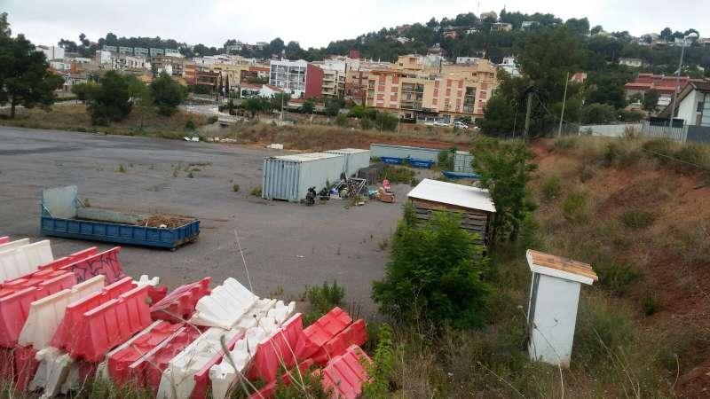 Terrenos donde se construirá el nuevo centro educativo en Gilet. EPDA