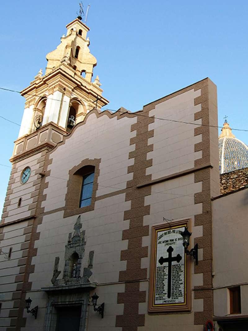 Panel cerámico en la iglesia de Rafelbunyol. EPDA