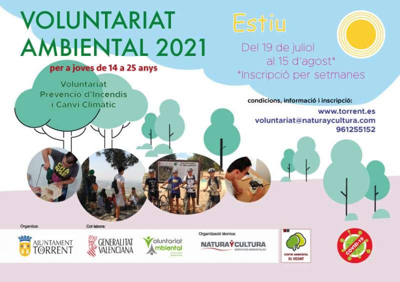 Cartel del voluntariado ambiental 2021. EPDA