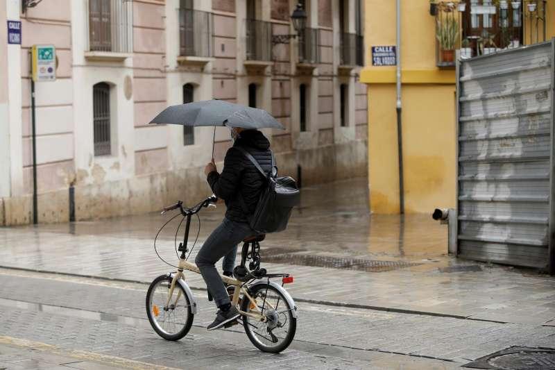 Una imagen de lluvia en Valencia de la primavera de 2021