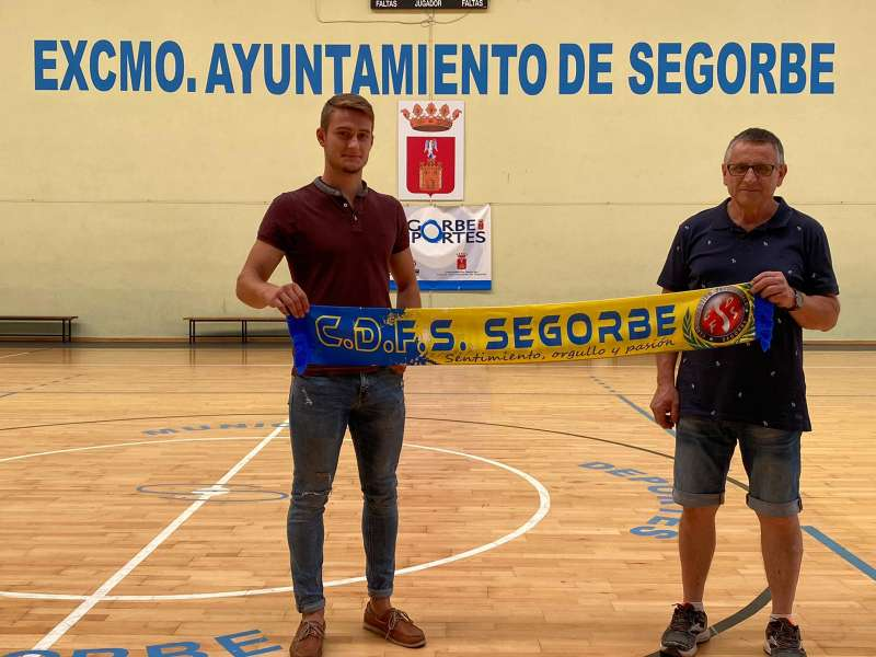 Jesús Hernández con el presidente Ángel Palomar