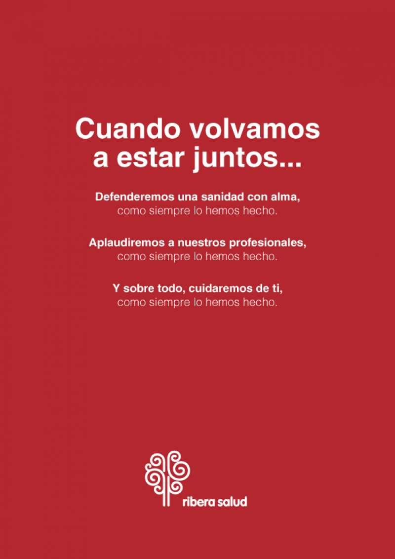 Cartel de Ribera Salud. / EPDA