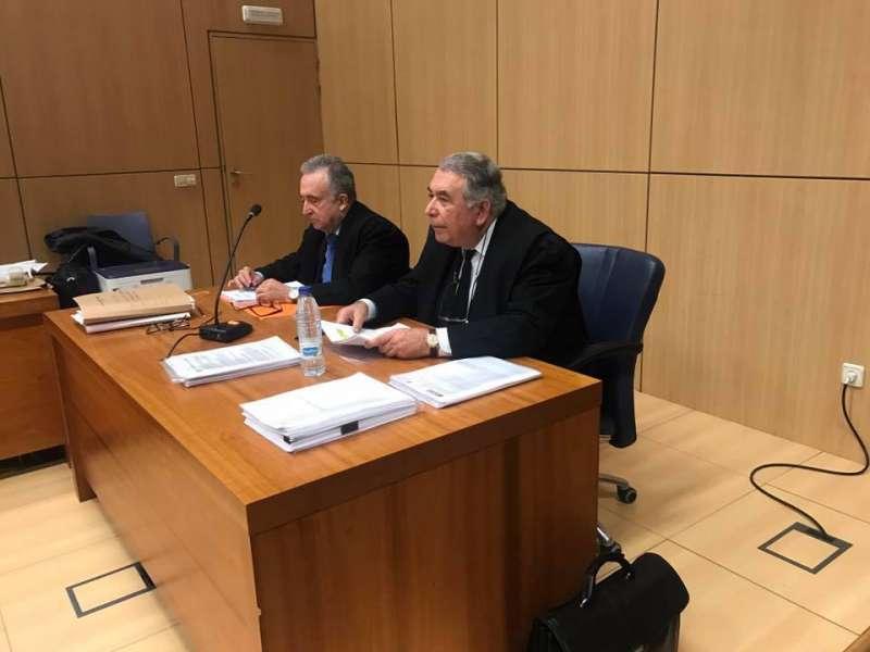 José Antonio Sancho Sempere durante el último juicio en la audiencia provincial. FOTO P. V.