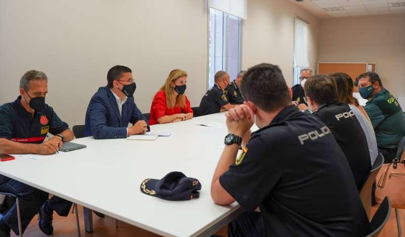 Marco i Donate en la Junta Local de Seguretat/EPDA