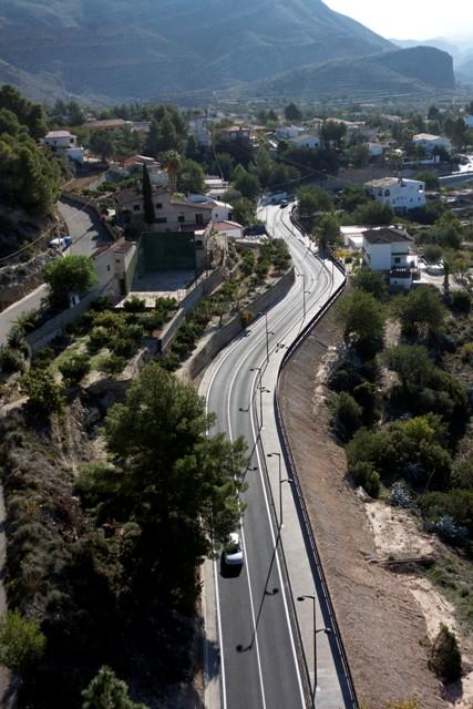 Imagen aérea de la carretera. FOTO: DIVAL