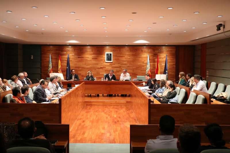 Pleno del Ayuntamiento de Torrent este mes de octubre.