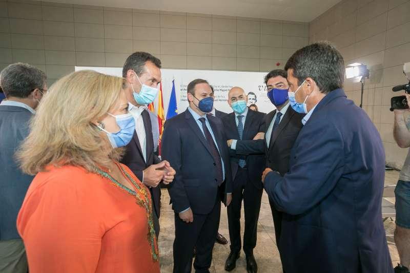 Luis Barcala, Carlos Mazón y José Luis Ábalos/EPDA