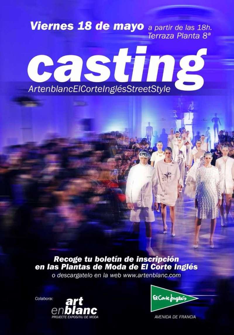 Cartel anunciador del Casting