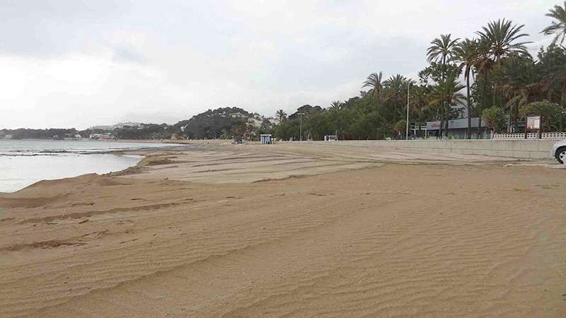 Playa de la Marineta Cassianam en Dénia. EPDA.
