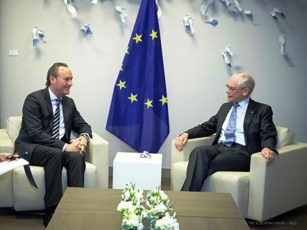 Alberto Fabra reunido con Van Rompuy. Foto EPDA