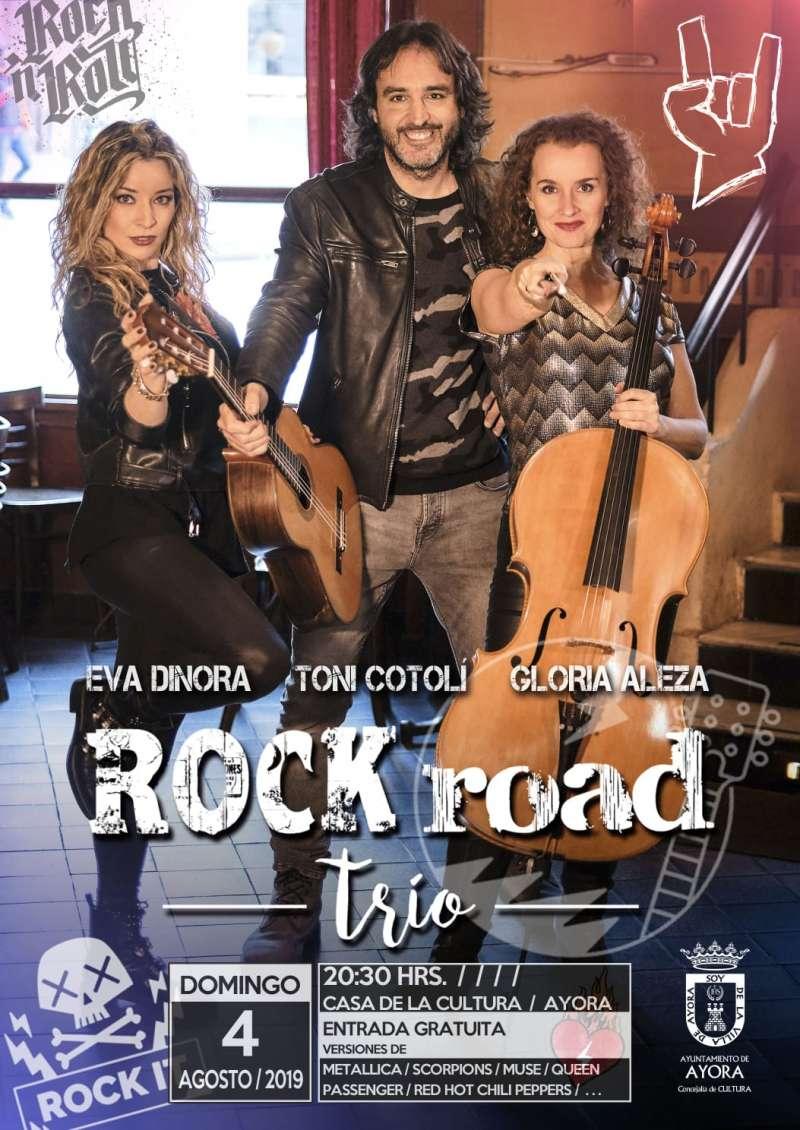 Cartel del concierto ROCK road trío. EPDA