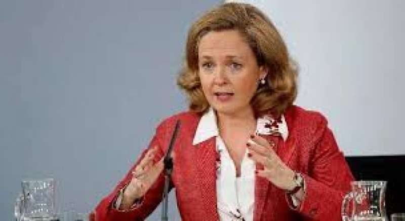 La vicepresidenta de Asuntos Económicos, Nadia Calviño. EFE