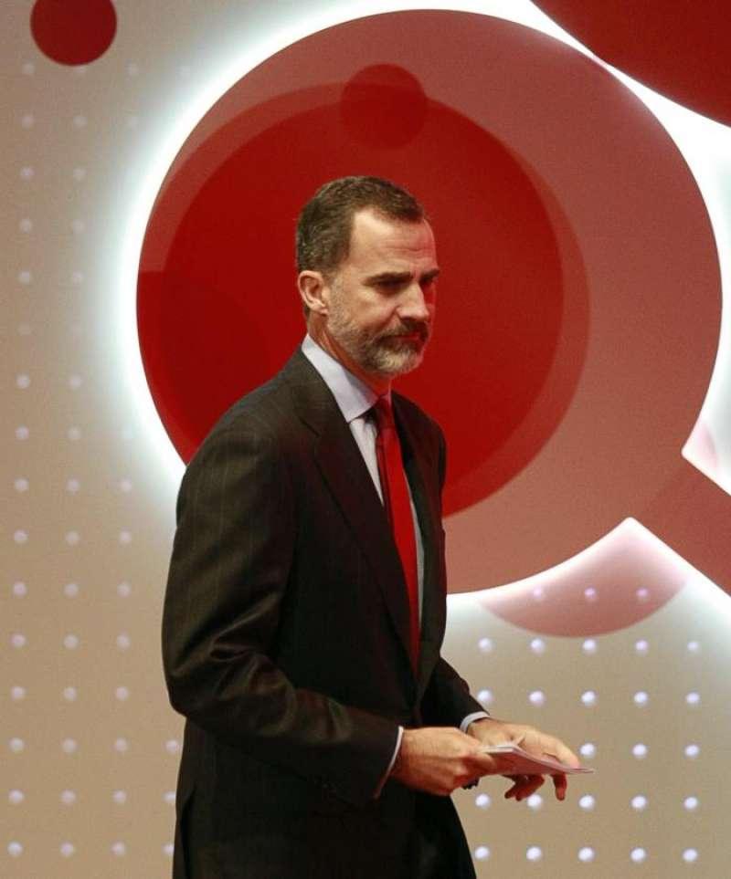 El rey Felipe VI momentos antes de su intervención en la inauguración del XIX Congreso Nacional de la Empresa Familiar celebrados en A Coruña en 2016. EFE/Archivo