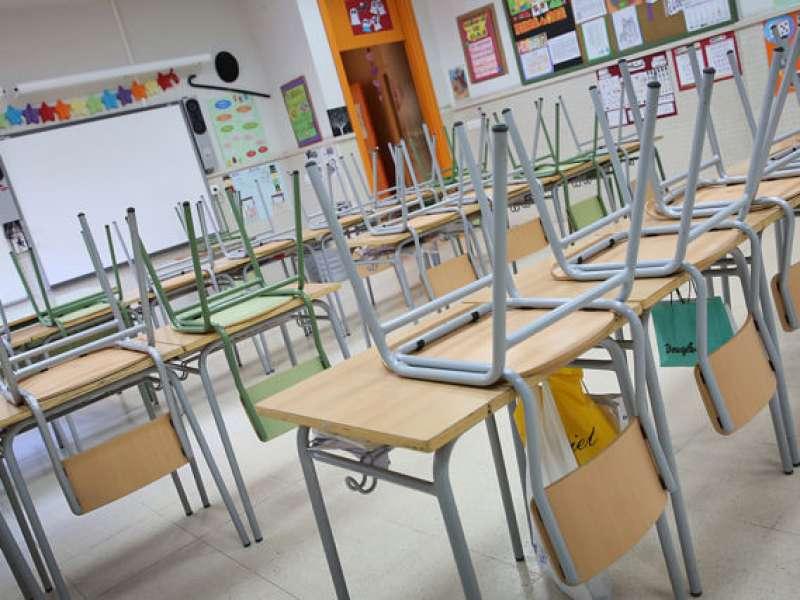 Colegio preparado para el inicio del curso
