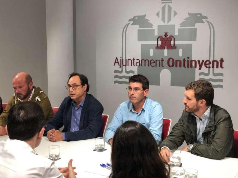 Reunión en el Ayuntamiento de Ontinyent. EPDA