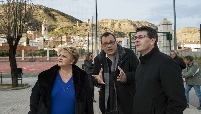 Jorge Rodríguez durante su visita a Gestalgar. EPDA