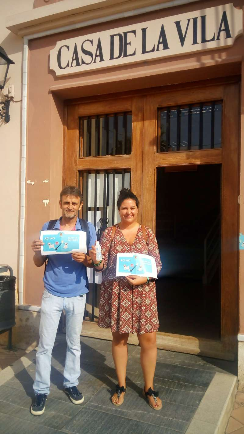 Campaña de sensibilización en Museros. EPDA