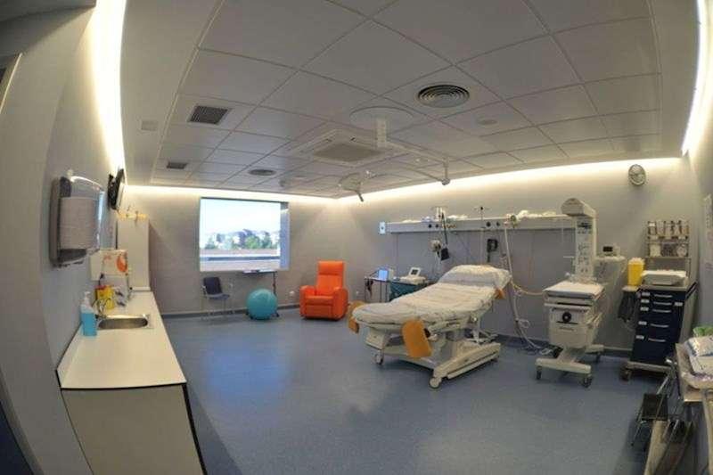 Sala de parto de un hospital. EFE