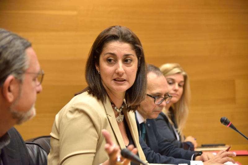 Sandra Martín, imagen de archivo de un pleno. EPDA.