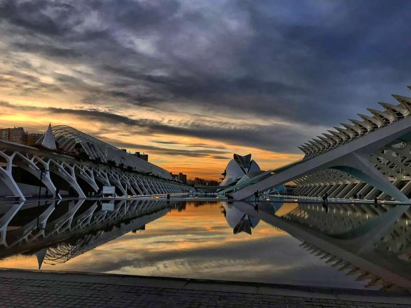 La Ciudad de las Artes y las Ciencias en València. Foto de archivo.