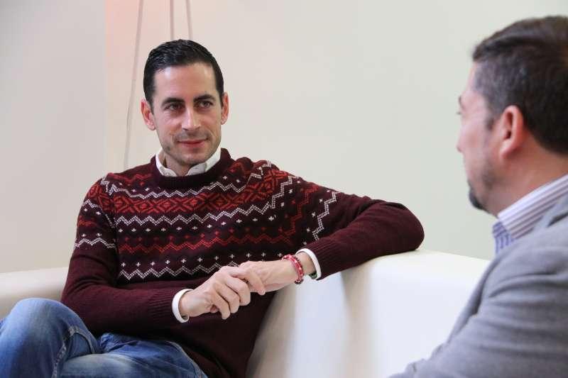 Carlos Fernández Bielsa durante la entrevista