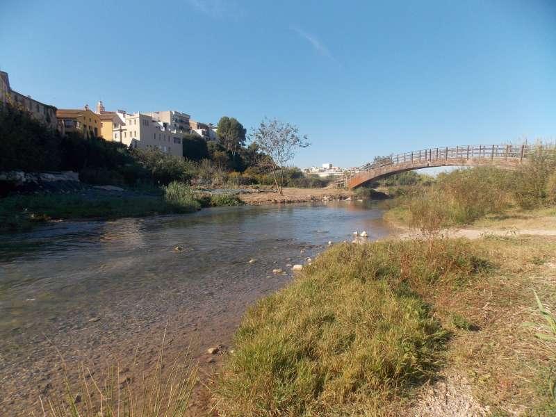 El río Túria a su paso por la localidad de Riba-roja. / EPDA