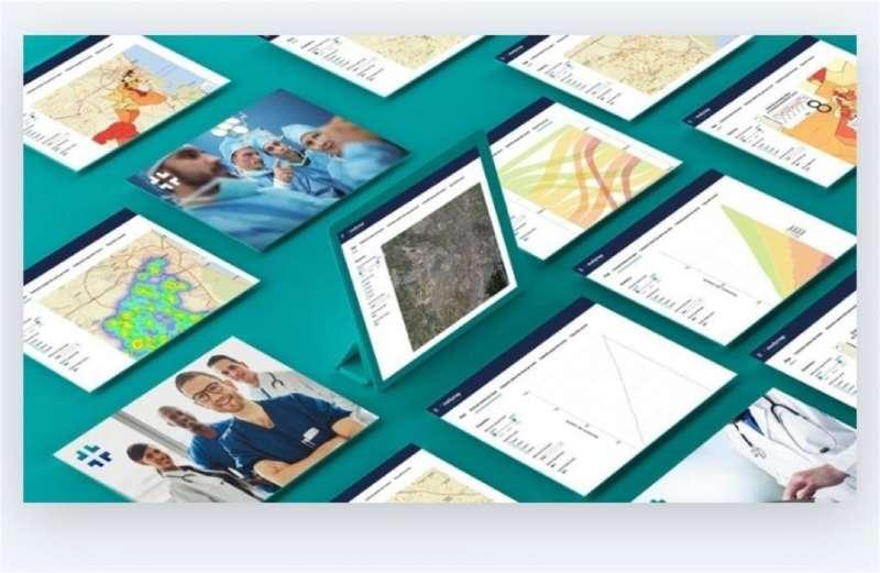 Imagen del software que estudia la distribución espacial de la covid facilitada por el equipo investigador.