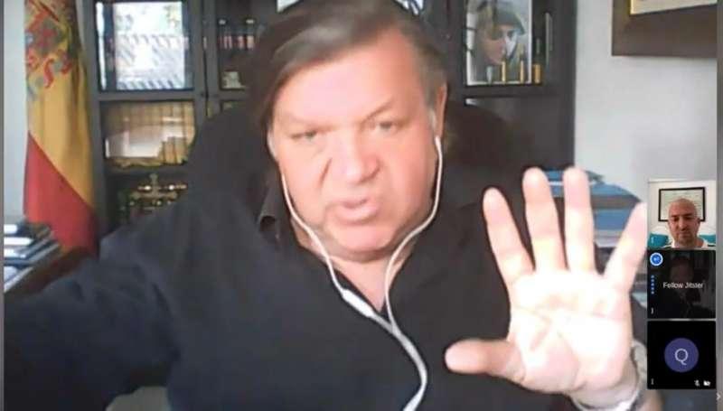 Juan de Dios Vargas durante la entrevista.