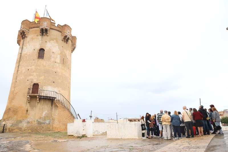 Visita guiada a la Torre de Paterna antes de la pandemia. epda