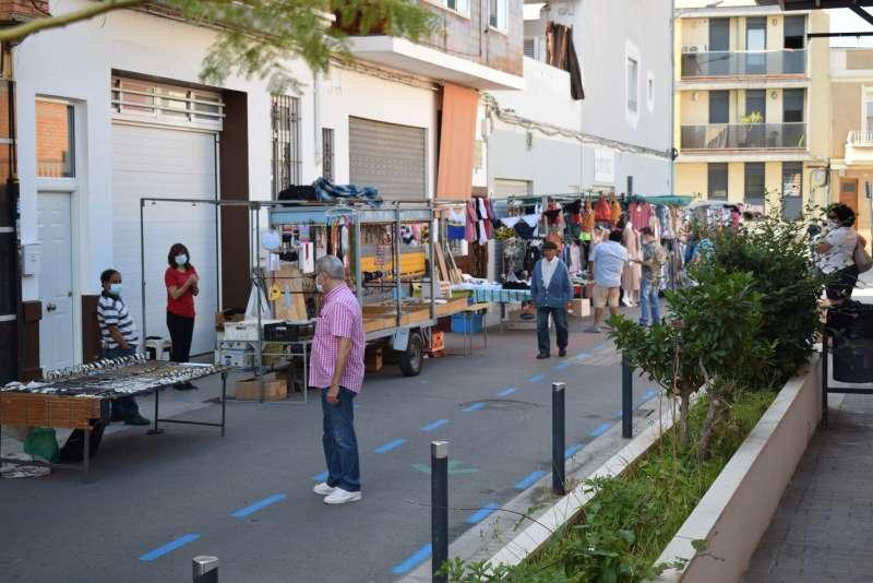 Mercado ambulante de Benetússer. / EPDA