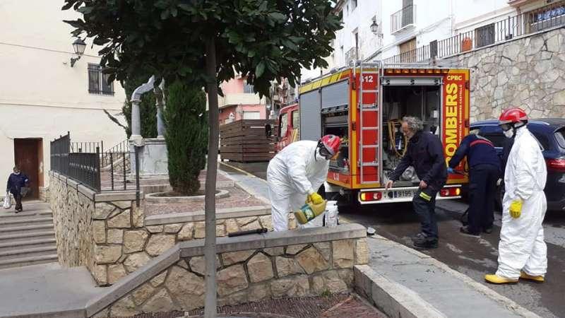 Los bomberos en Altura