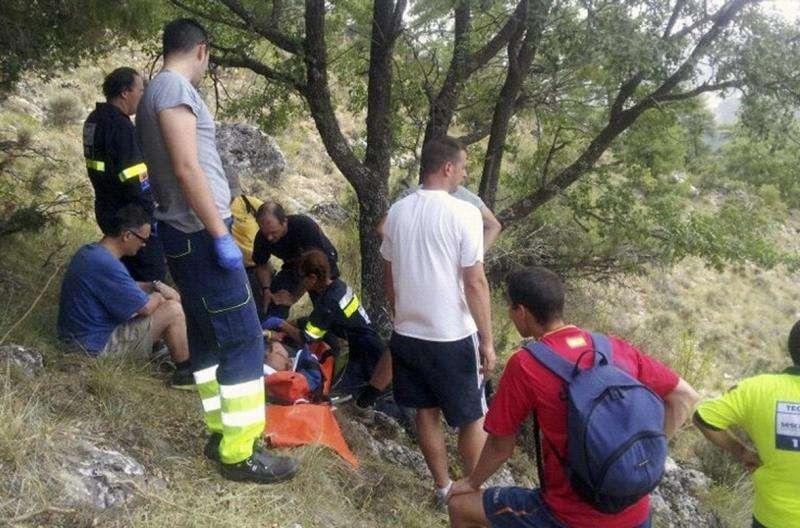 Una imagen de archivo de un rescate en la montaña. EFE