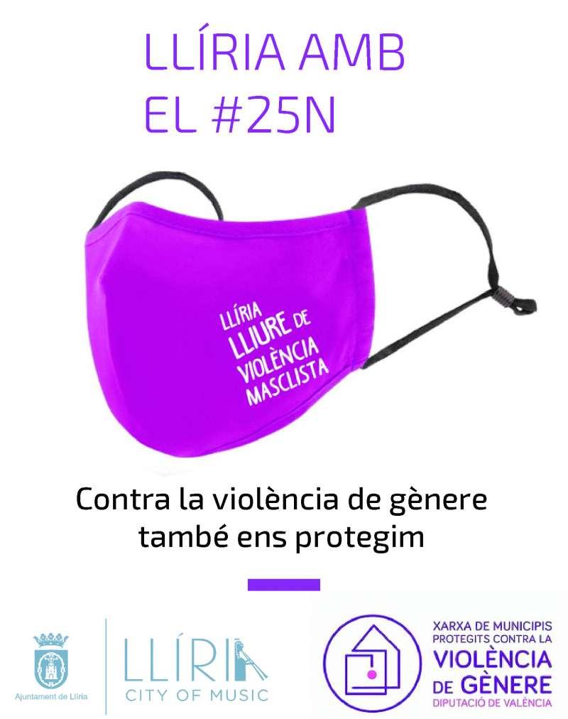 Cartel de la conmemoración del 25-N en Llíria. / EPDA