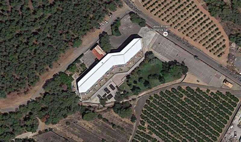 Vista aérea del colegio San Vicente Ferrer de Sagunto