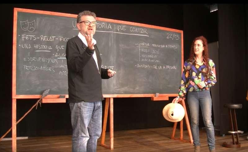 Carles Alberola i Laia Serna durant la celebració. EPDA.