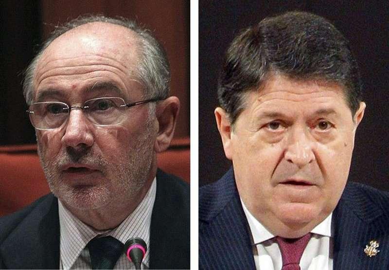 Los exdirectivos de Bankia Rodrigo Rato (izq) y José Luis Olivas (der). EFE/Archivo