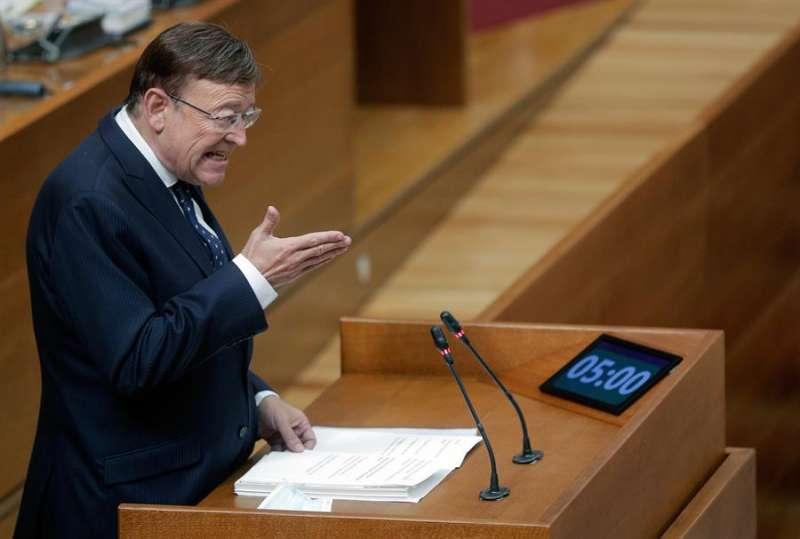 El presidente de la Generalitat, Ximo Puig, durante su intervención en el debate de política general en Les Corts.EFE/ Kai Försterling/Archivo