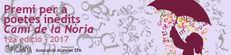 Cartell del concurs per a poetes inèdits Camí de la Nòria de Picanya. EPDA