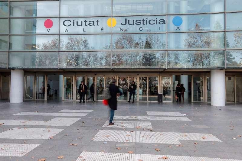 Imagen de la fachada de la Ciudad de Justicia