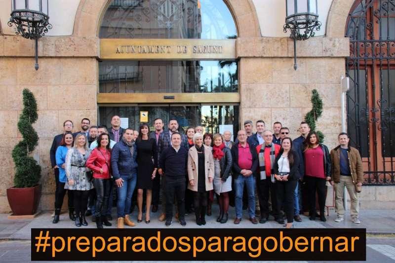 Integrantes de Ciudadanos en Sagunt. EPDA