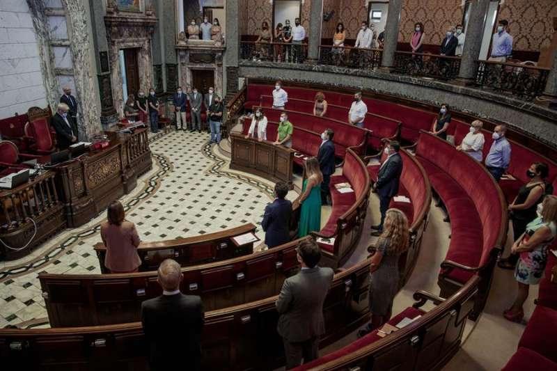 Imagen del pleno extraordinario celebrado en el Ayuntamiento de València. EFE