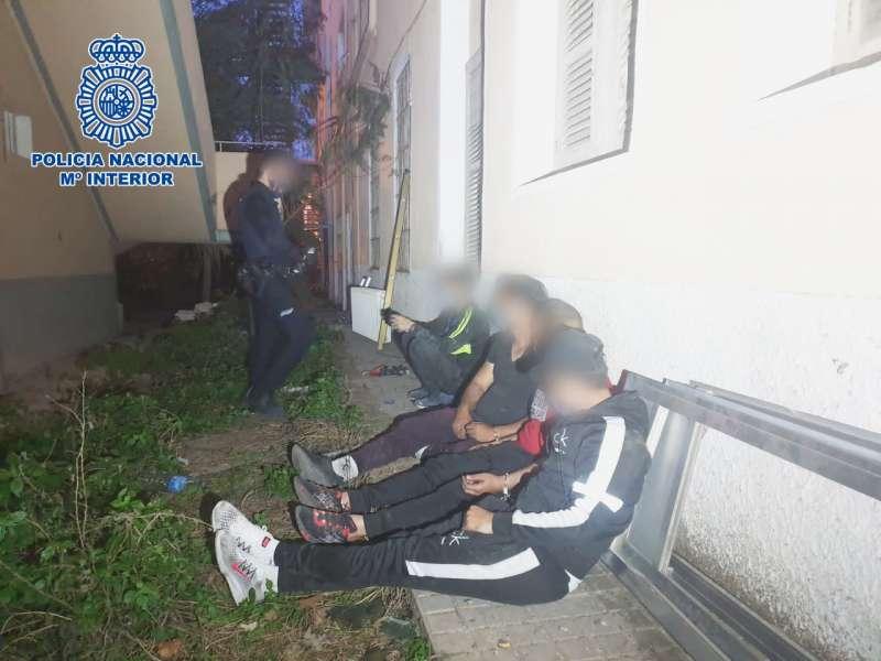 Imagen de los detenidos proporcionada por fuentes policiales. EPDA