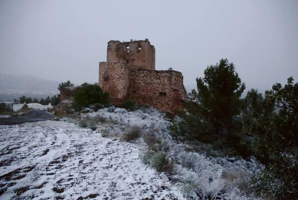 Imagen del castillo municipal de Torres Torres en diciembre. AYUNTAMIENTO TORRES TORRES
