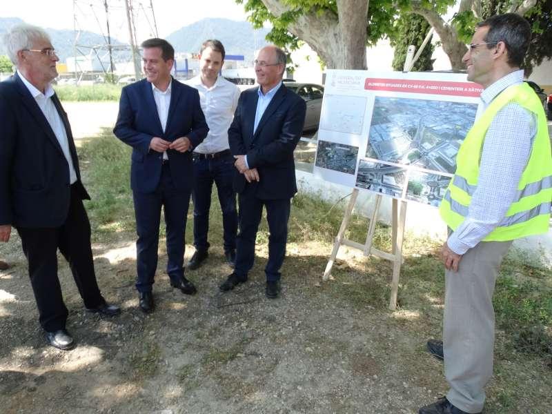 Visita del director general Obras Públicas a Xàtiva.