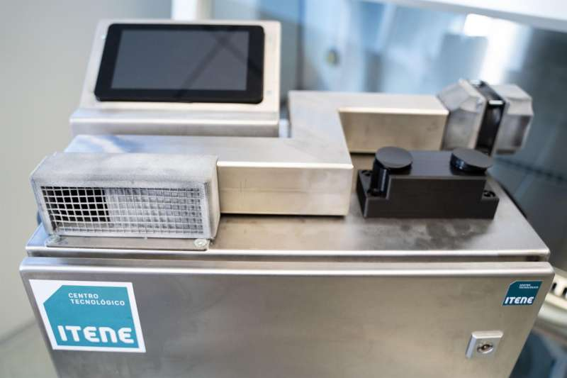 Imagen del dispositivo tecnológico desarrollado por ITENE en el marco del proyecto ViriSens, respaldado por la Generalitat Valenciana a través del IVACE. EFE