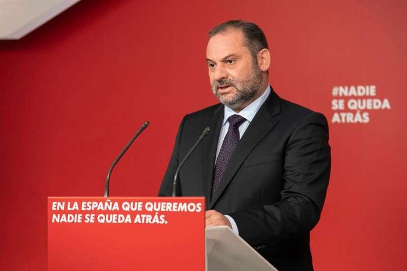 El secretario de Organización del PSOE y ministro de Fomento, José Luis Ábalos, en una imagen reciente. EFE