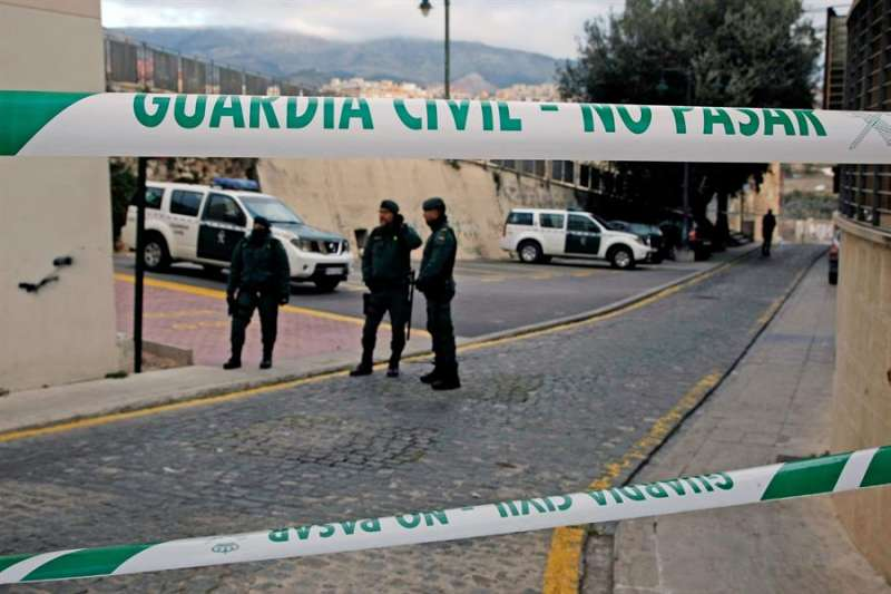 Imagen de la Guardia Civil en un suceso en Alcoy. EFE