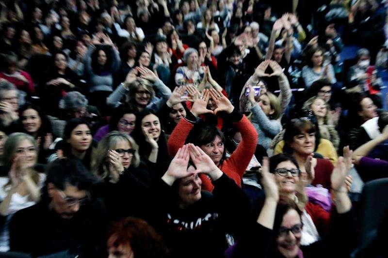 Participantes en el V Encuentro Estatal del 8M. EFE