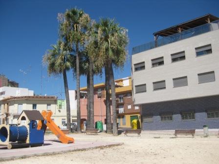 Imagen del estado del parque antes de comenzar las obras de ampliación. FOTO: DIVAL